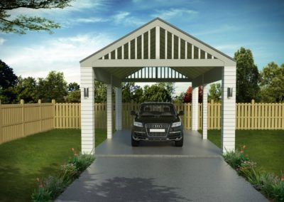 Carport Single CS1.1 Render Feature 1256x837
