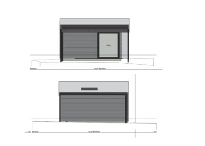Sleepout with Storage and Louver Roof SS1.3 Side