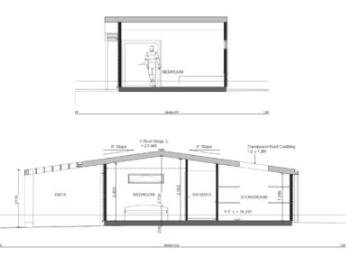 Sleepout with Storage and Louver Roof SS1.4 Section