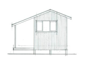 Sleepout Cottage 15m2 20.1.1 Side